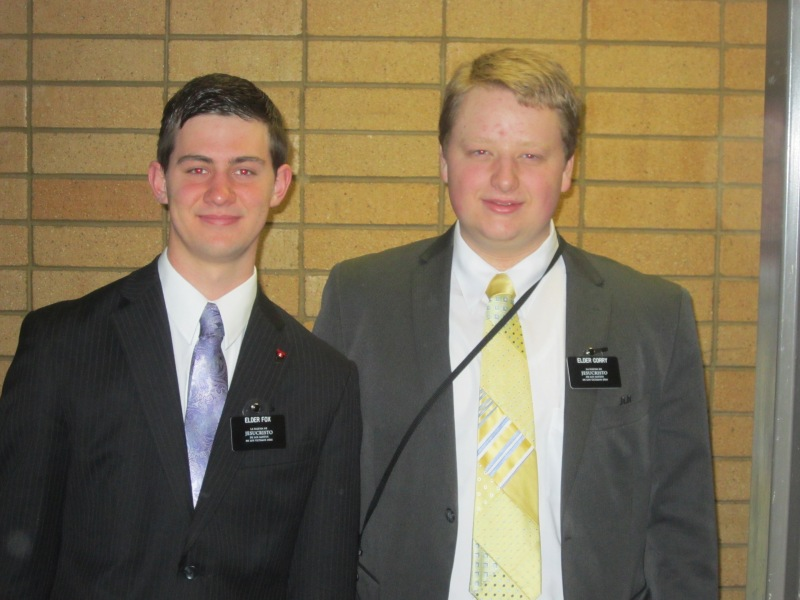 Josh and his MTC Companion. Elder Andrew Corry